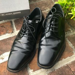 "stacy adams ""WAYDE"" black dress shoes size 12M"